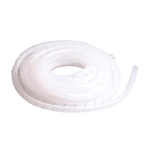 2pcs 16mm Outside Dia 4M 18Ft Clear Spiral Cable Wire Wrap Tube Cord Pipe 18' Polyethylene Sleeve