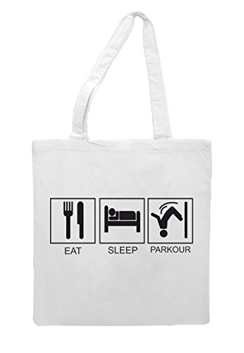 Bag Hobby Sleep Shopper Tote White Parkour Activity Eat Tiles Funny 6dIc0qwIF