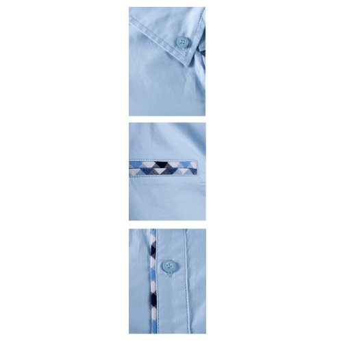 Tom's Ware Mens Premium Casual Inner Layered Dress Shirt TWNMS310S-SKYBLUE-L( US S/M)