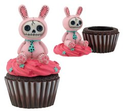 Pink Bunny Bun Bun Furry Bones Cupcake Box Collectible Figurine