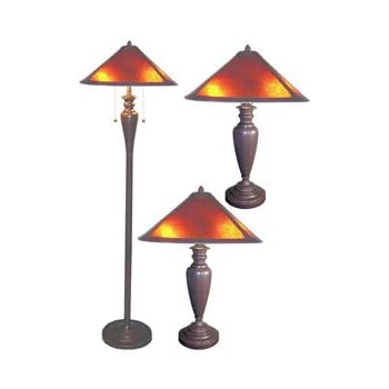 Tiffany Style Aztec Mission Lamps Set Of 2 Household