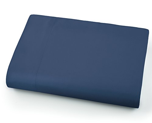 Southshore Fine Linens - Oversized Flat Sheets Extra Large - 132 Inches x 110 Inches (Dark Blue) - Extra Fine Linen