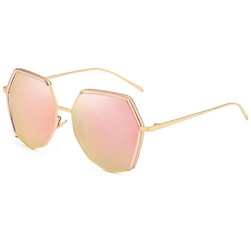 Polarized Sunglasses for Women Mirrored Sunglasses Hexagonal Square Oversized Vintage Retro Cateye