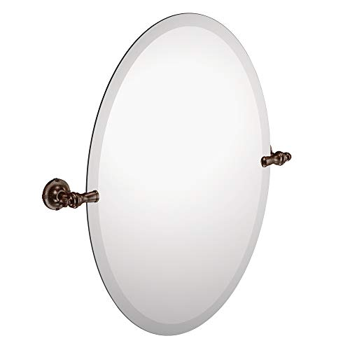 Moen DN0892ORB Gilcrest 26-Inch x 23-Inch Frameless Pivoting Bathroom Tilting Mirror, Oil - Home Vanities And Bathroom Depot Mirrors