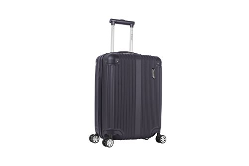 Rockland Hardside Spinner 3-Piece Luggage Set, Black