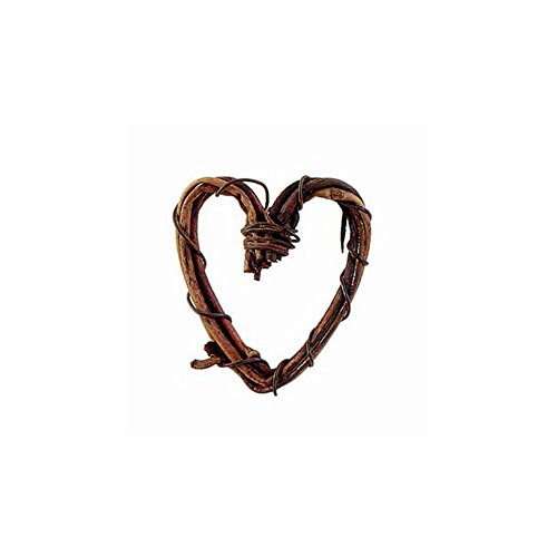 Darice Miniature Grapevine Heart - Natural (1 inch, 8 Pieces/Pack)