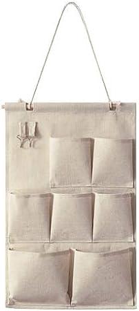 DIU Colgando Bolsas de Almacenamiento Organizador Armario de Lino de algodón Niños Habitación Organizador Bolsa para Juguetes Libros Artículos cosméticos 4/7 Bolsillos 7 Bolsillos Bolsa: Amazon.es: Hogar