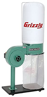 Grizzly G8027 1 HP Dust Collector - Vacuum And Dust Collector Accessories -
