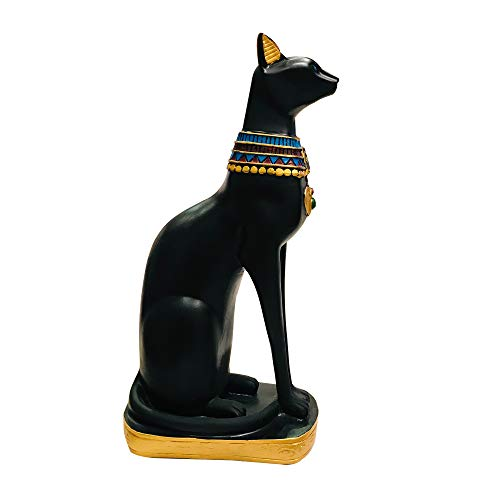 Goodman and Wife Black Egyptian Ancient Style Cat Goddess Bastet Statue Large Size