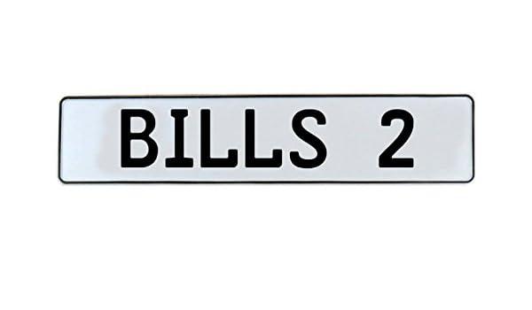 Vintage Parts 336373 2 NFL Buffalo Bills White Stamped Street Sign Mancave Wall Art
