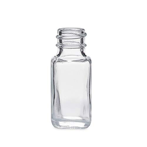 0.5 oz Glass French Square Bottles Case 48 by Berlin Packaging ()