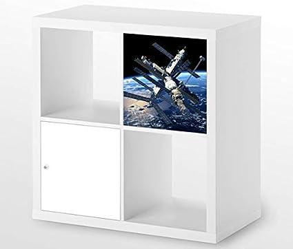 Meubels Voor Ikea Kallax 1 X Turelement Space Station Iss Buitenruimte Kat13 Space Ship Sticker Meubelfolie Sticker Zonder Meubel Folie 25d549 Amazon Nl