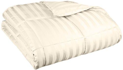 All Season Wide Stripes Down Alternative Comforter, King, Cream (Grand Down Alternative Comforter compare prices)