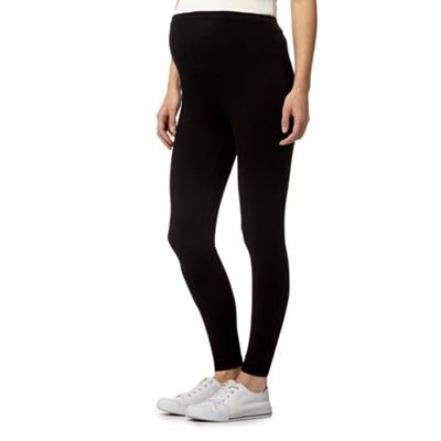 Debenhams Womens Black Plain Over The Bump Stretch Maternity Leggings