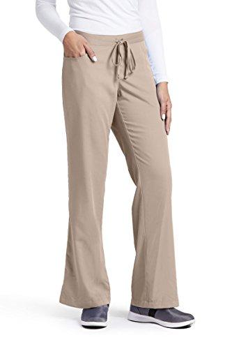 New Womens Ladies Khaki - Grey's Anatomy Women's Junior-Fit Five-Pocket Drawstring Scrub Pant - XX-Large Petite - New Khaki