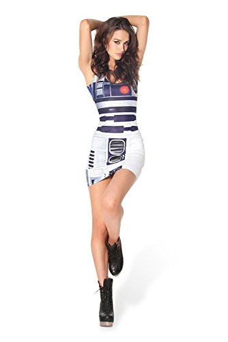Star Wars Costumes For Women Sexy Artoo Bodycon Dress