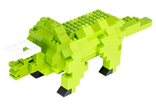 Strictly Briks - Triceratops Classic Briks Dinosaur Building Set - 218 Piece Toy - 100% Compatible with All Major Building Brick Brands
