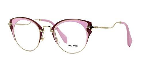 - MIU MIU Eyeglasses MU52PV U651O1 Pale Gold/Pink/Amaranth