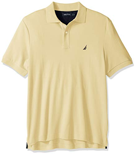- Nautica Men's Classic Fit Short Sleeve Solid Soft Cotton Polo Shirt, French Vanilla, Medium