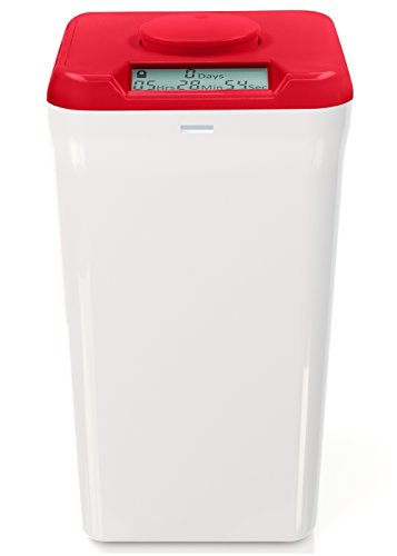 Kitchen Safe XL: Time Locking Container (Red Lid + White Base) - 10.4