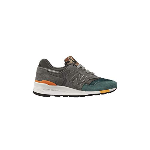 New Balance Men's 997 Made in Us Graphite Grey/Dark Teal/Camo M997nm made in Massachusetts
