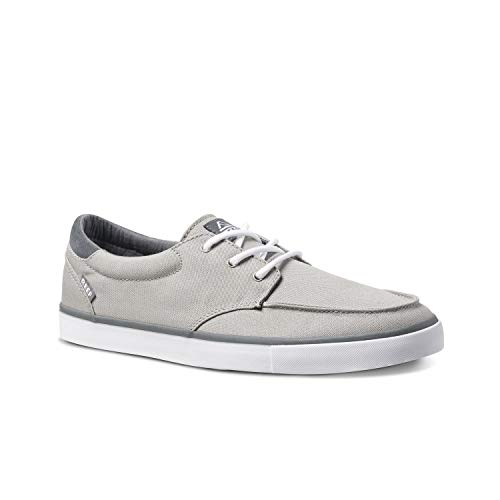 Reef Deckhand 3 | Premium Shoes for Men with Classic Styling for Street, Skate, Or Surf Sneaker | Grey/White | Size 12