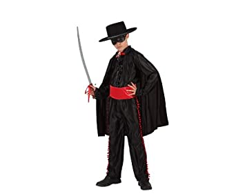Atosa-98449 Bandido Disfraz Enmascarado, color negro, 10 a 12 años ...