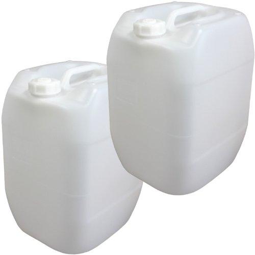 2x Wasserkanister 30 Liter Camping Outdoor Trinkwasser Kanister Wasser-Kanister Camping-Kanister Wassertank Trinkwasserkanister Lebensmittelecht mit Ausgusshahn 2er Set