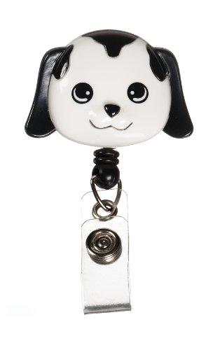 Prestige Medical S14-dog Retractable Badge Holder with Bulldog Clip, Dog