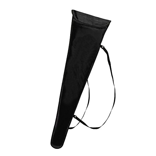 LEONARK Fencing Sword Sling Shoulder Bag for Foil Epee and Saber - Sword Sleeve Cover Case Pipe Tube for Fencing Weapons Lame- Professional Fencing Accessories - 1 Pack (Dual Sword Bag-Black)
