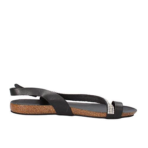 DOCKSTEPS sandali donna nero pelle strass AG856