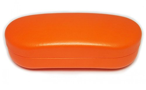O'Meye Hard Shell Eyeglass & Sunglasses Case 3 Piece Set for Men & Women (MS87 Orange) by O'Meye