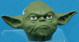 Star Wars-Yoda glass holiday ornament