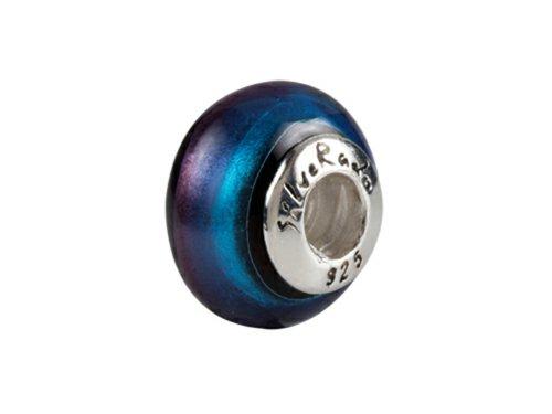 SilveRado Murano Glass Seductive Universe Bead/Charm (Charm Silverado Bead)
