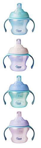 (Tommee Tipee First Sips Straw Transition Cup, 5 Ounce, 1 Count (Colors will vary))