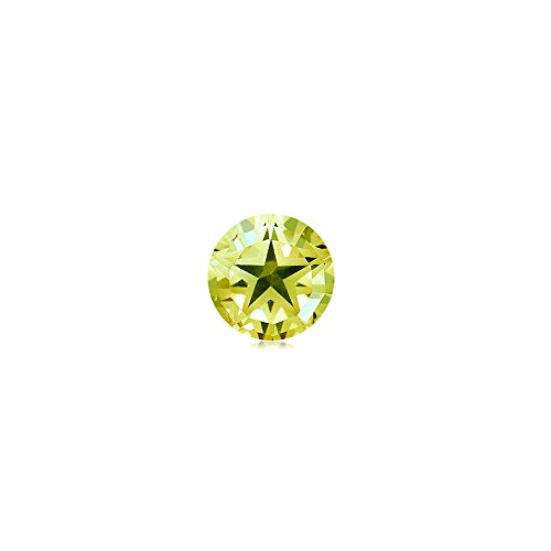 Lemon Citrine Ring (4.95-6.27 Cts of 12x12 mm AA Round Star Lemon Citrine ( 1 pc ) Loose Gemstone)