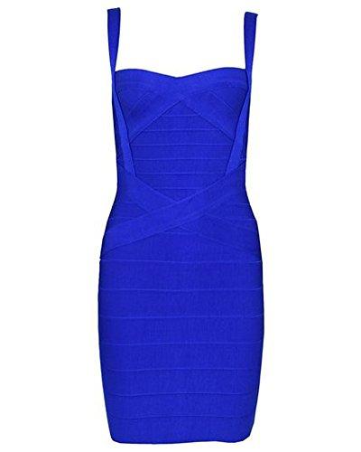 Whoinshop -  Vestito  - Sera  - Donna blu Small