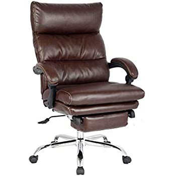 Amazon.com: HomCom Reclining PU Leather Executive Home ...