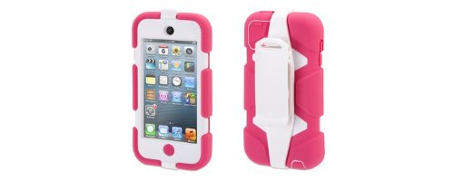 Griffin Technology - Survivor Case for 4th Generation Apple Ipod Touch - Pink/white 4th Generation Ipod Parts