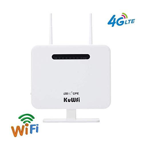 4G CPE Router 300Mbps Unlocked 4G LTE AP Wireless Router with 2 Antenna and 4 LAN Port WiFi Router Hotspot with SIM Card…