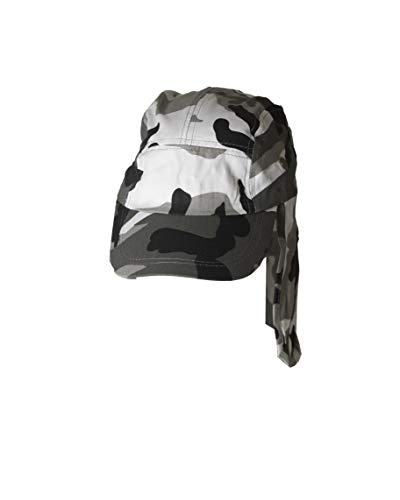 Fishing Cap with Ear and Neck Flap Cover - Outdoor Sun Protection (Desert Camo)