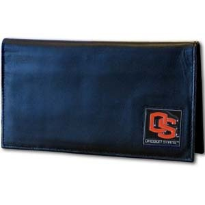 (Siskiyou NCAA Oregon State Beavers Leather Checkbook Cover)