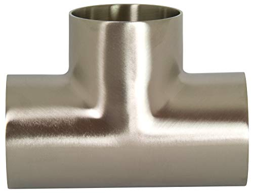 Dixon B7WWW-G100P Stainless Steel 304 Polished Fitting, Weld Short Tee, 1
