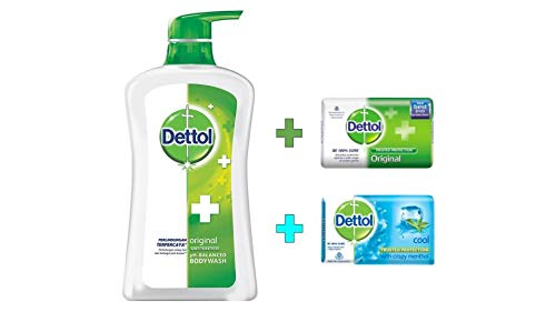 Dettol Anti Bacterial pH-Balanced Body Wash, Original, 21.1 Oz/625 Ml (Pack of 2) ()