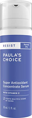 (Paula's Choice RESIST Super Antioxidant Serum | Vitamin C, Ferulic Acid & Coenzyme Q10 | Anti-Aging Treatment | Dry Skin | 1 Ounce)