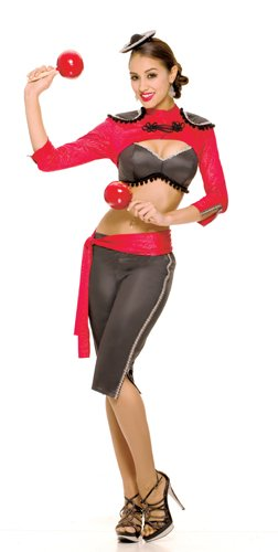 Paper Magic Womens French Kiss Mariachi Mamacita Costume, Black/Red, (Ladies Mariachi Costume)