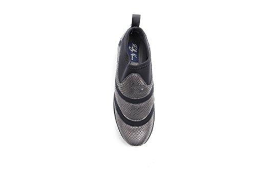 Nero carbone Elasticizzata 870281 Rumiko Nana Donna Pretty Sneaker fxwqzv7z4