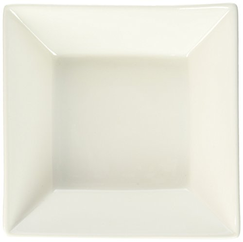 Maxwell Square - Maxwell and Williams Basics Square Soup Bowl, 7-Inch, White