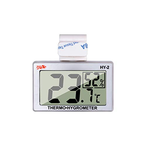 (Reptile Thermometer Humidity and Temperature Sensor Gauges Reptile Digital Thermometer Digital Reptile Tank Thermometer Hygrometer with Hook and Velcro Ideal for Reptile Tanks, Terrariums, Vivariums)