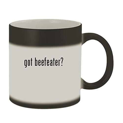 got beefeater? - Ceramic Matte Black Color Changing Mug, Matte Black